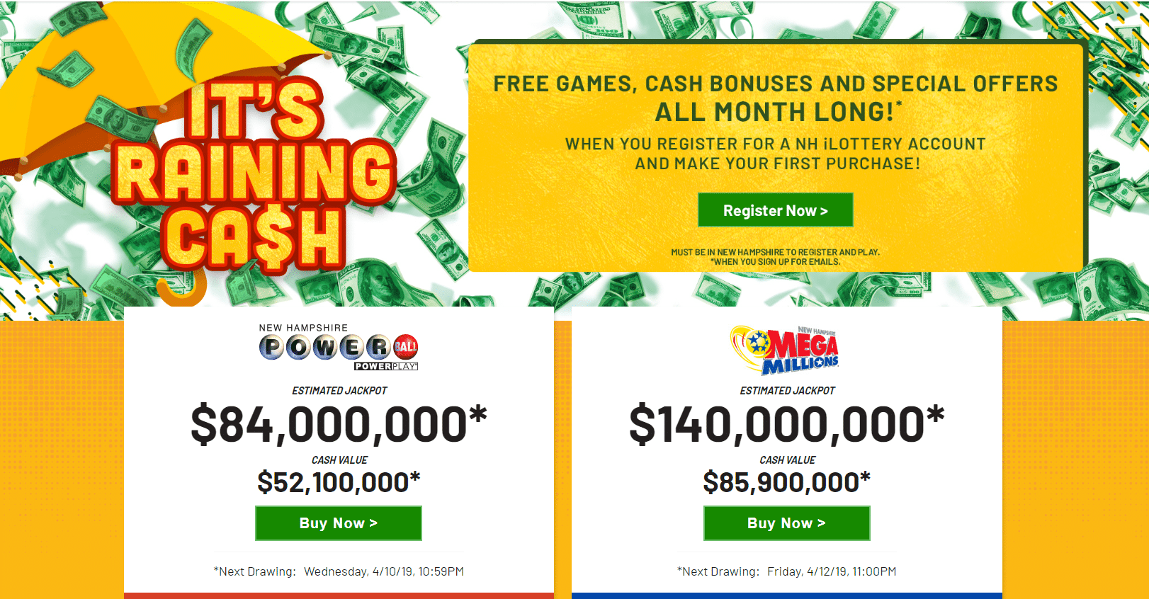 NH Lottery Promo Code 2019: Free Games and Rewards